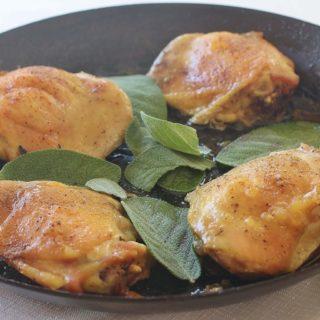 Sage Roasted Chicken Thighs