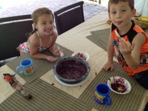 """""""We ate the whole thing. Nana, will you make us another Blackberry Cobbler?"""""""