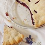 Blackberry Pie with Butter Crust . A three ingredient blackberry filling baked in a homemade butter pie crust. #blackberry #pie #butter #crust #southernfood