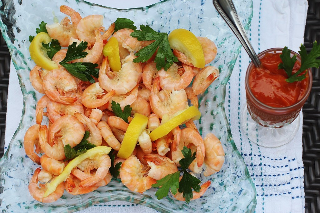 Peel and Eat Shrimp.  Gulf shrimp boiled in seasoned water and served hot or cold. #shrimp #seafood #southernfood #gulf