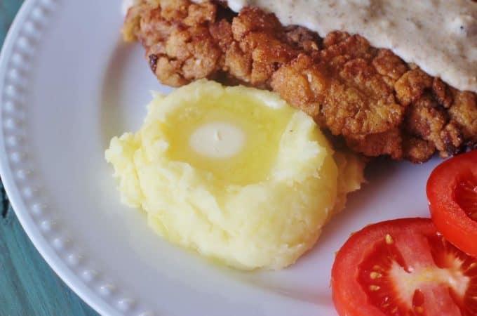 Buttermilk Mashed Potatoes. Boiled Yukon gold potatoes mixed with buttermilk, butter, salt and pepper.