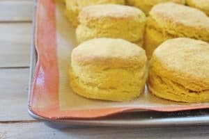 Pumpkin Pie Biscuits on a baking sheet