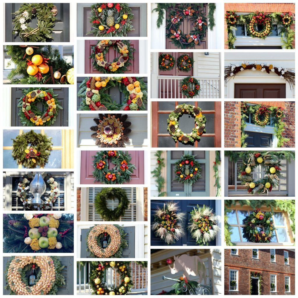 Colonial Williamsburg Christmas 2014. All decorations are made from natural materials.