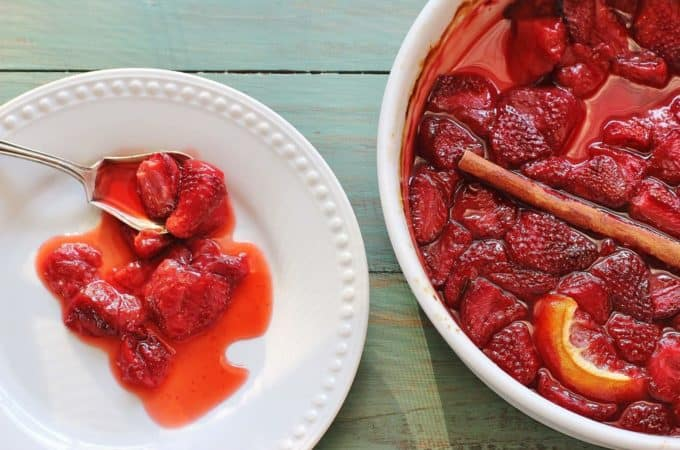 Roasted Strawberries make a beautiful syrup.