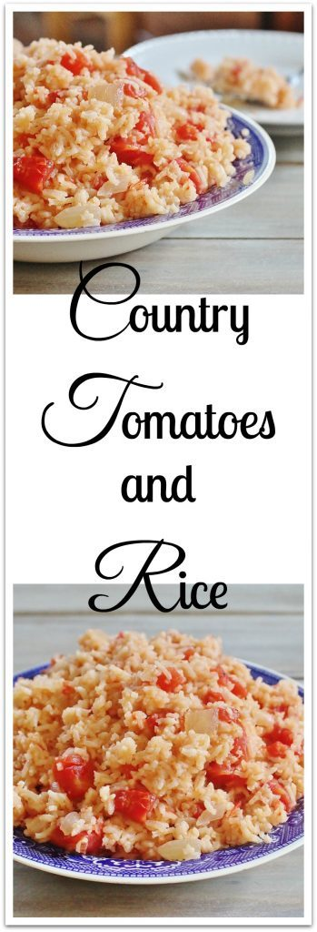 Tomatoes and Rice in bowls.