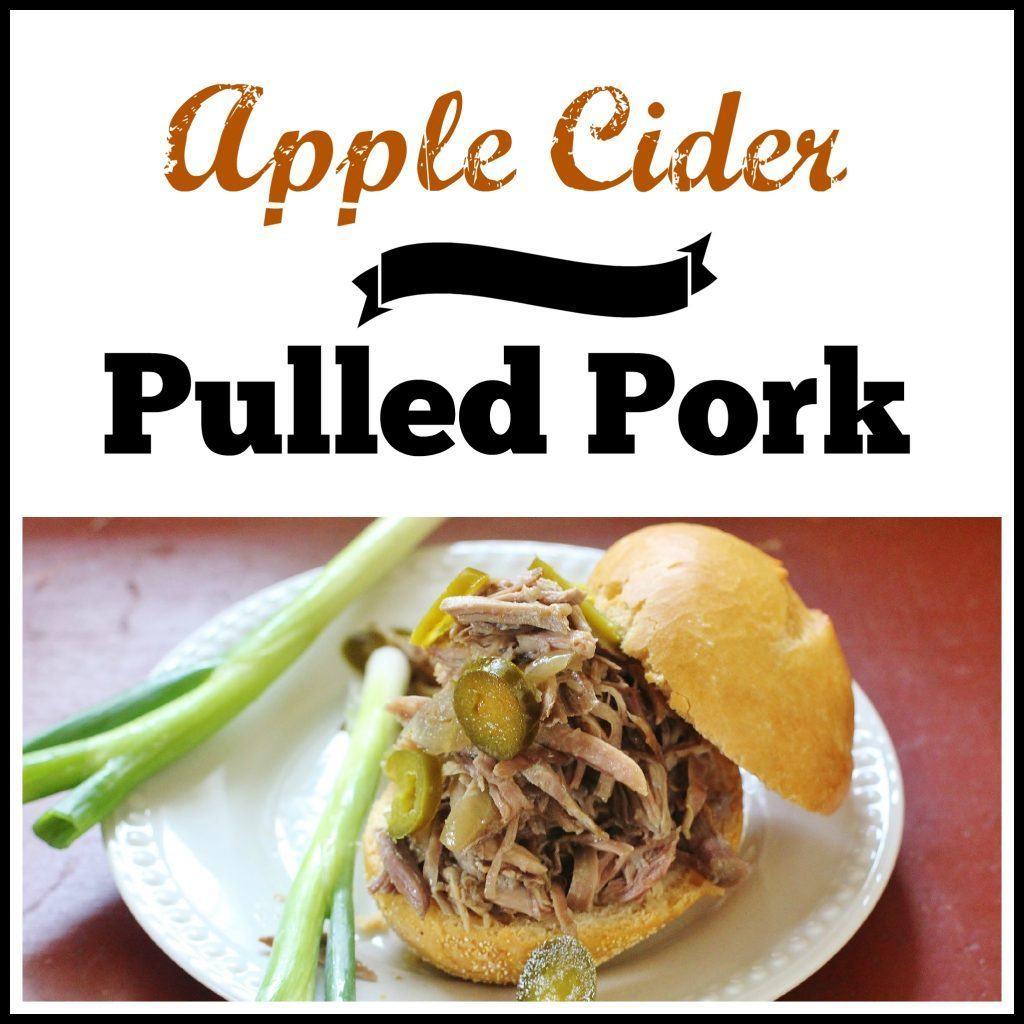 Apple Cider Pulled Pork. Boston Butt pork roast braised in apple cider, apple cider vinegar and aromatic vegetables until fork tender. Serve as a sandwich or entree.