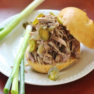 Apple Cider Pulled Pork. Boston Butt pork roast braised in apple cider, apple cider vinegar and aromatic vegetables until fork tender. Serve as a sandwich or entree.