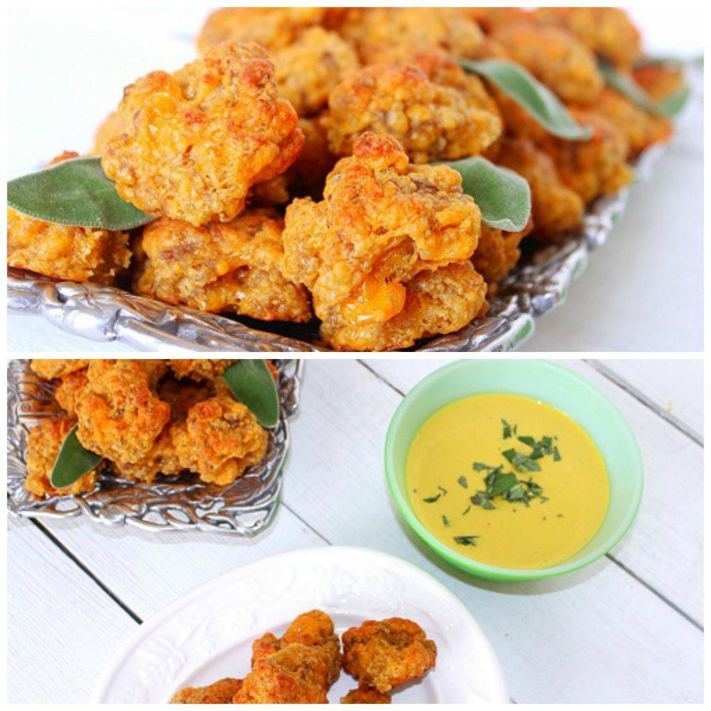 Sausage Cheese Balls with Honey Mustard Sage Sauce. Ground pork sausage, cheese and baking mix create an oldie but goodie.