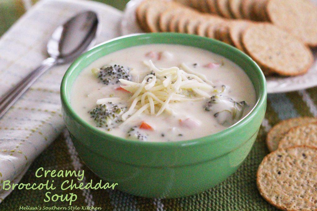 Creamy Broccoli Cheddar Soup/Melissa's Southern Style Kitchen