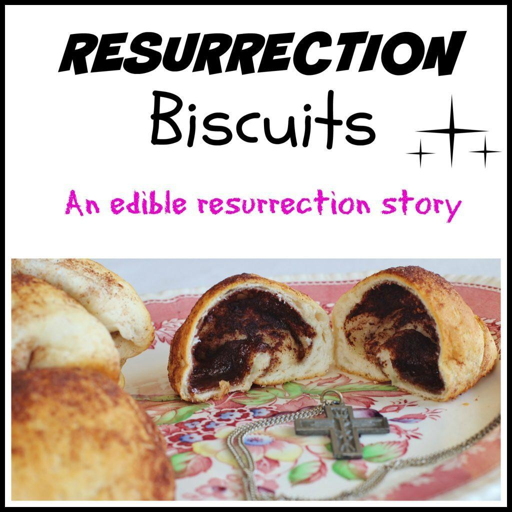 Resurrection Biscuits on plate.