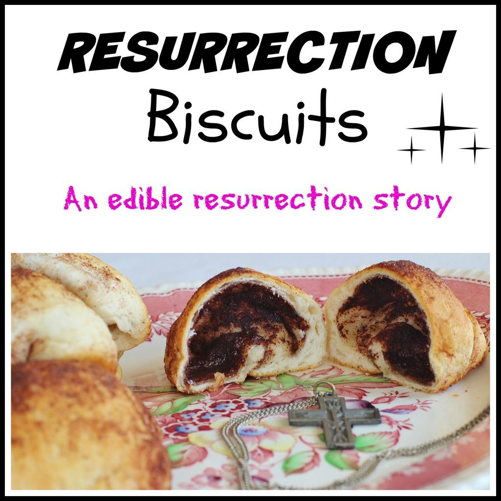 It uses canned biscuits, marshmallows, sugar, cinnamon and butter. The hollow biscuit represents the empty tomb. All the symbolism and meanings are included in the post. #EasterBiscuits #FoodSymbolism