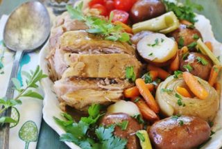 Slow-cooker Pork Roast and Vegetables. #tyson #tysonmealkit