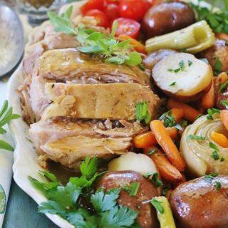 Slow-cooker Pork Roast and Vegetables