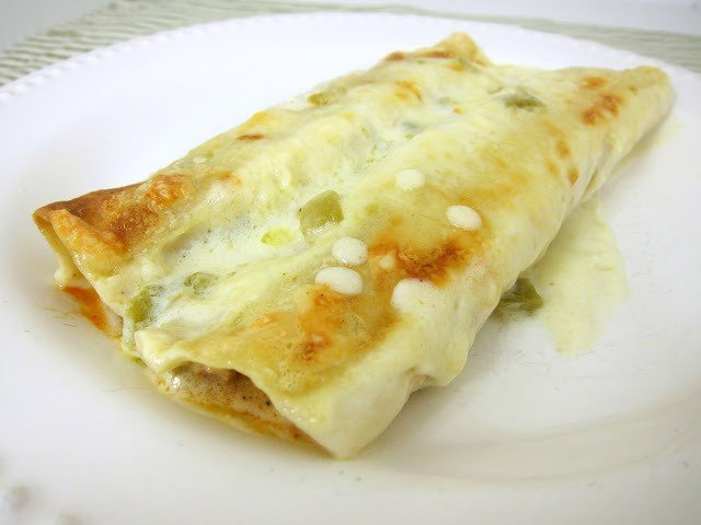 white chicken enchilada