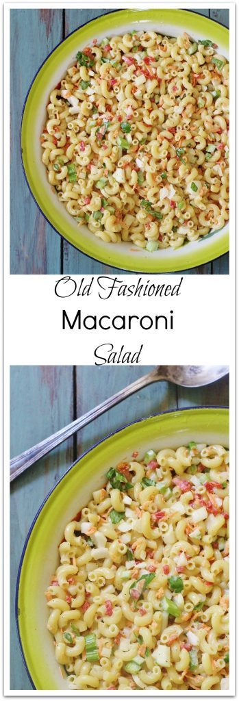 Old Fashioned Macaroni Salad in a bowl.