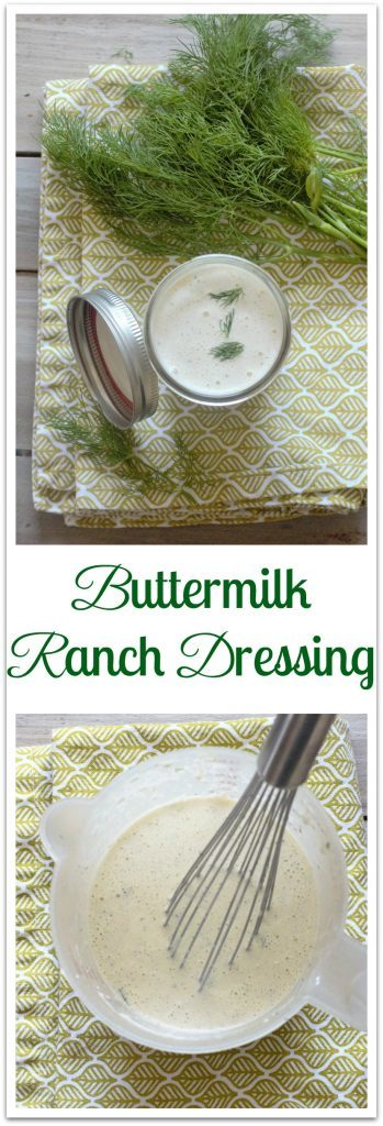 Buttermilk Ranch Dressing. A homemade version of everybody's favorite salad dressing. Made with buttermilk, mayonnaise, fresh herbs and seasonings. Mixes in one bowl.