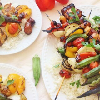Chicken and Sausage Gumbo Skewers