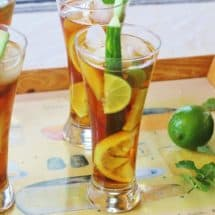 Pimm's Cup Cocktail. An 18th century British cocktail popular at the Wimbledon Championships.