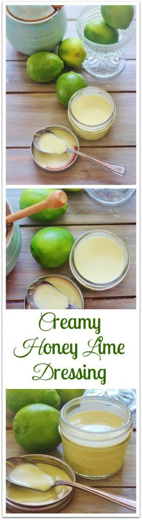 Creamy Honey Lime Salad Dressing in jars