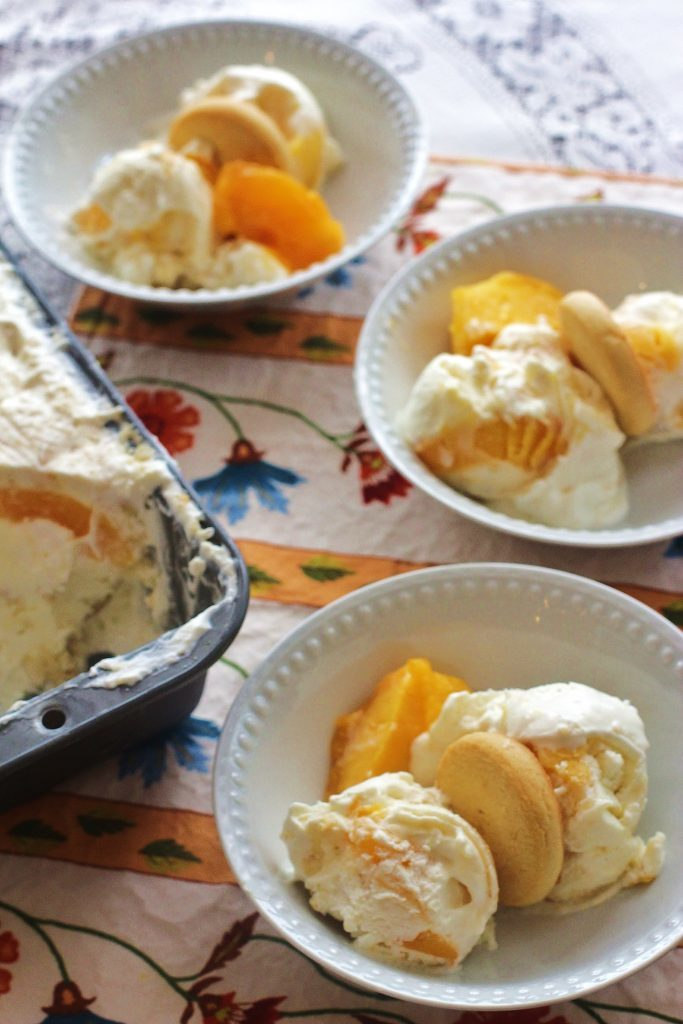 Peach Cobbler No-Chrun Ice Cream (2)