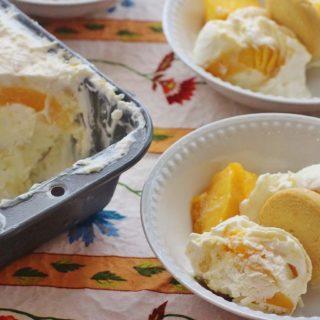 Peach Cobbler No-Churn Ice Cream