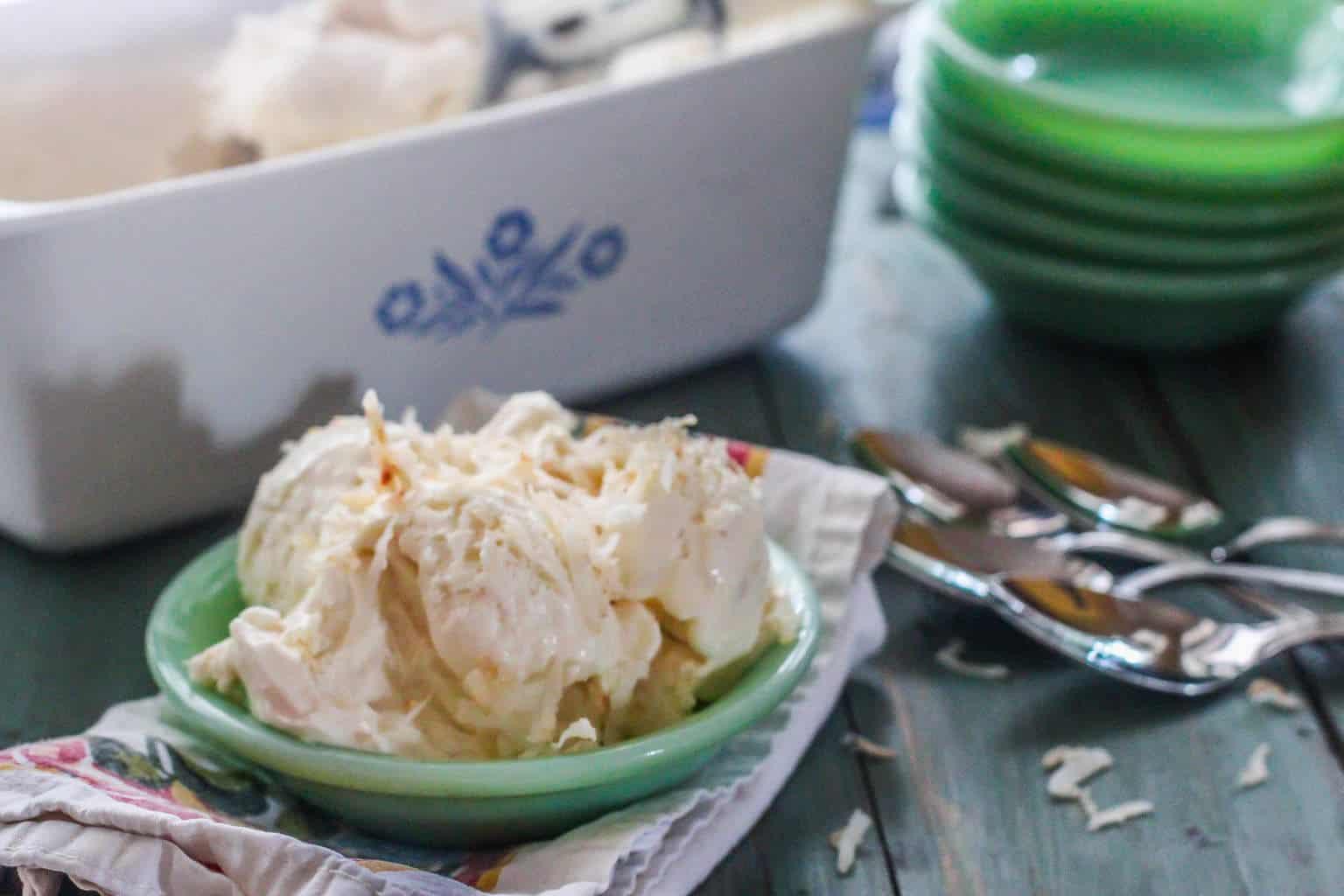 Coconut Macaroon No-Churn Ice Cream