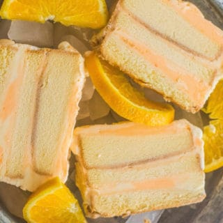 Creamsicle-Inspired Ice Cream Layer Cake