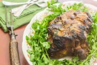 Cuban Mojo Pork. Boston butt marinated in mojo sauce made from fresh orange and lime juice, cumin, oregano, cilantro and garlic.