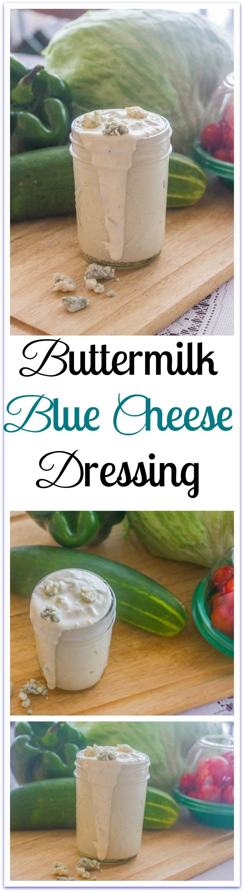 Along with my love for blue cheese comes a fondness for ButtermilkBlue Cheese Dressing.It packs a wallop of flavor into each tablespoonful. So, you can use it sparingly, if so inclined, and still have a mountain of taste. #Buttermilk #BlueCheese