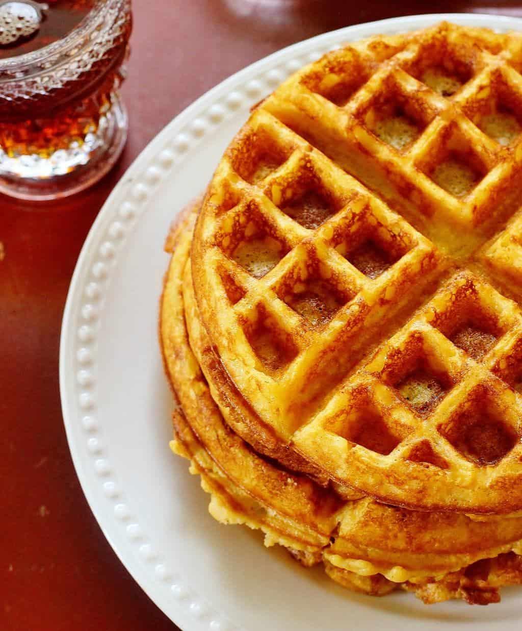 Overnight Sweet Potato Belgian Waffles