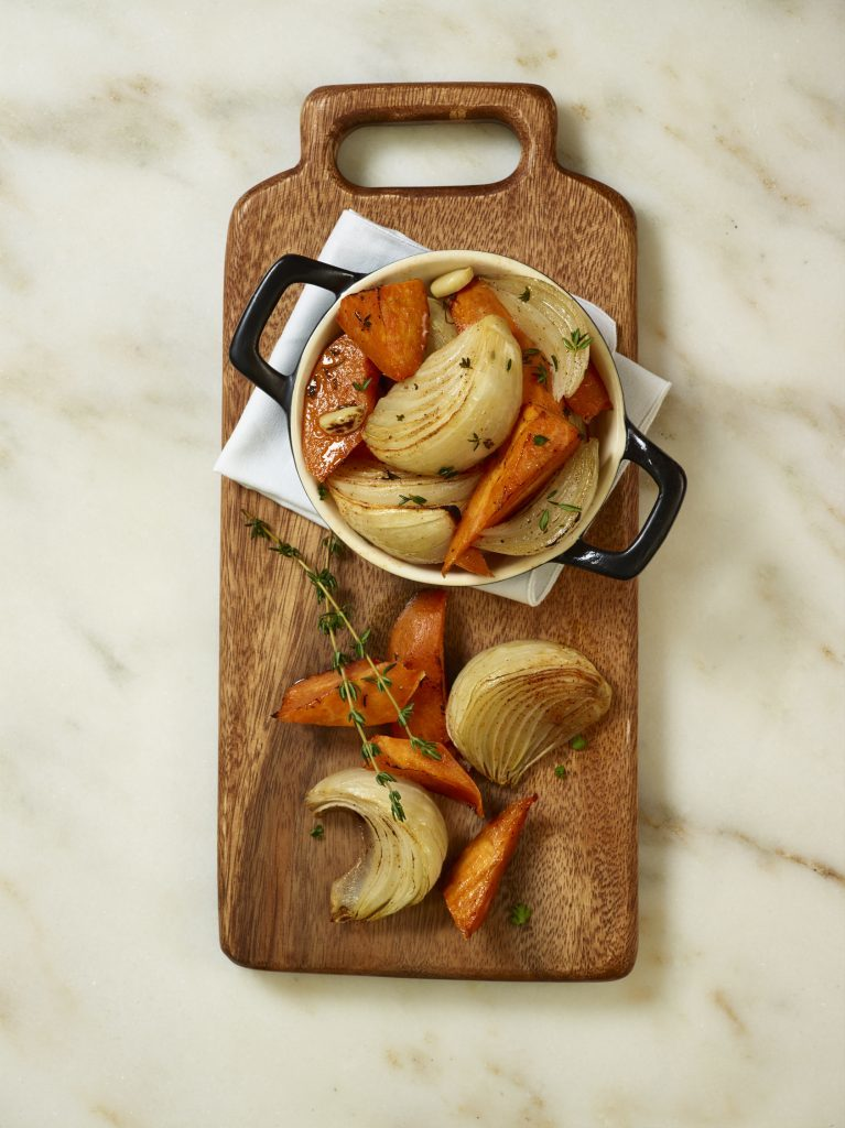 Roasted Sweet Potatoes and Sweet Onions.