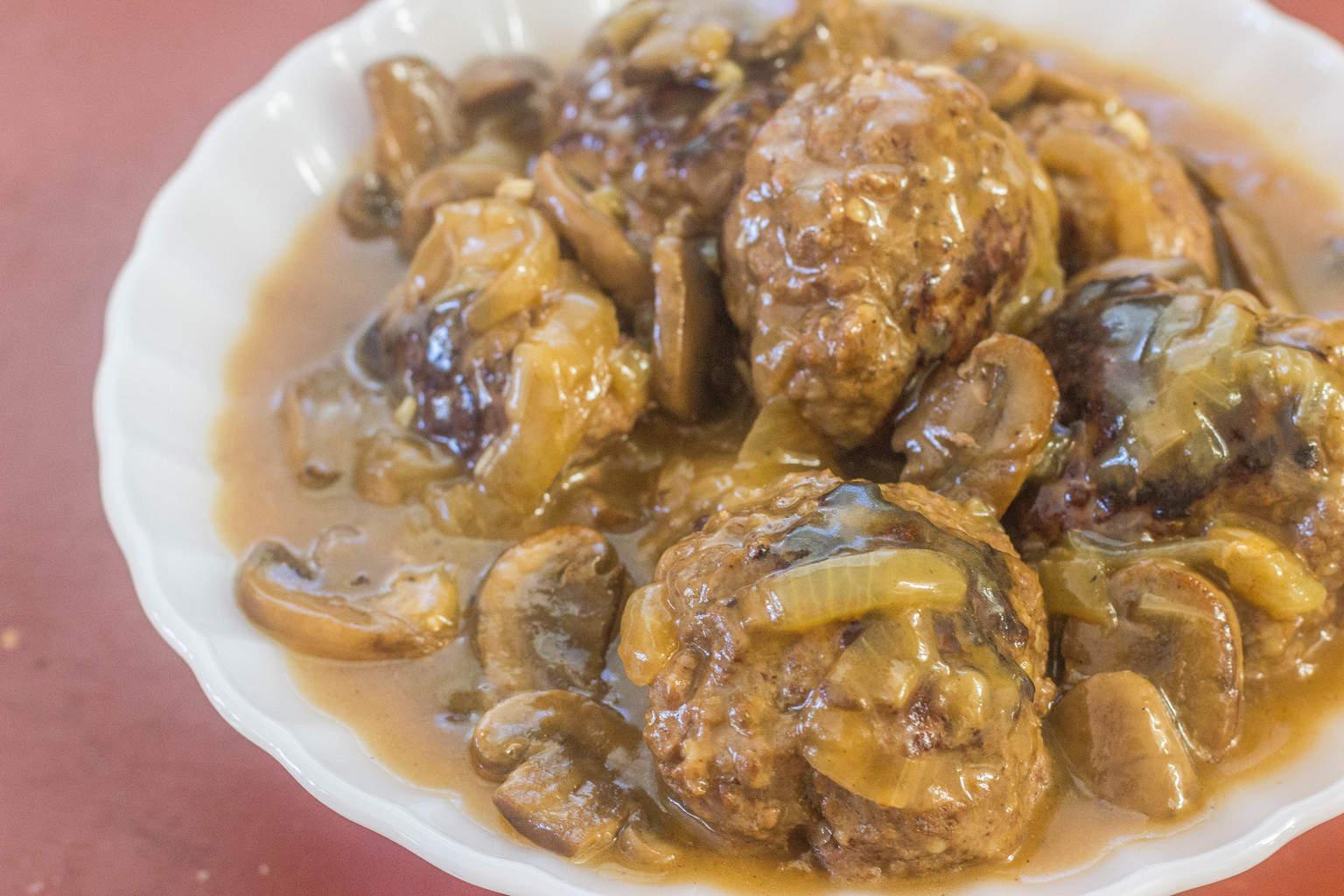 Southern-Style Hamburger Steaks with Onion Mushroom Gravy