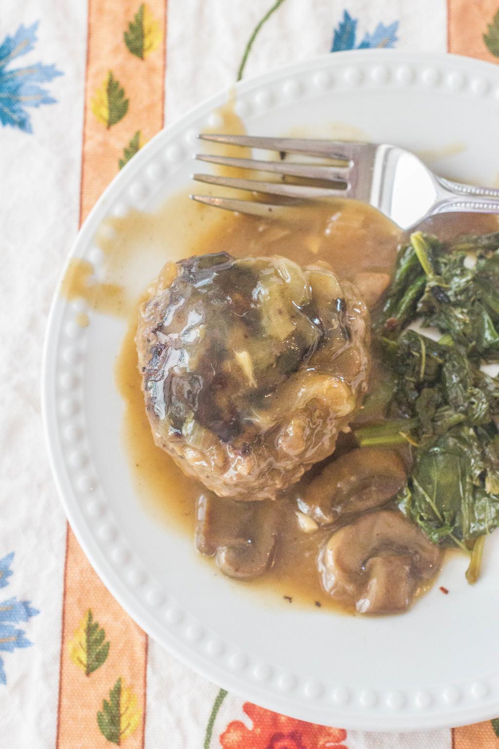 recipe: mushroom smothered beef burgers [32]