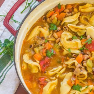 Black-Eyed Pea and Tortelloni Soup