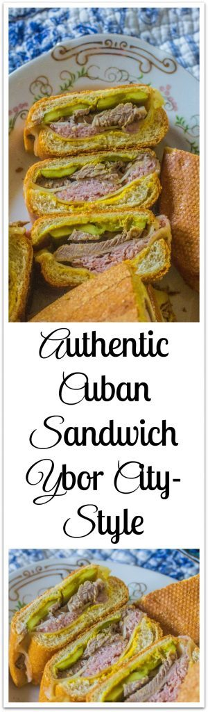 Authentic Cuban Sandwich on plates.