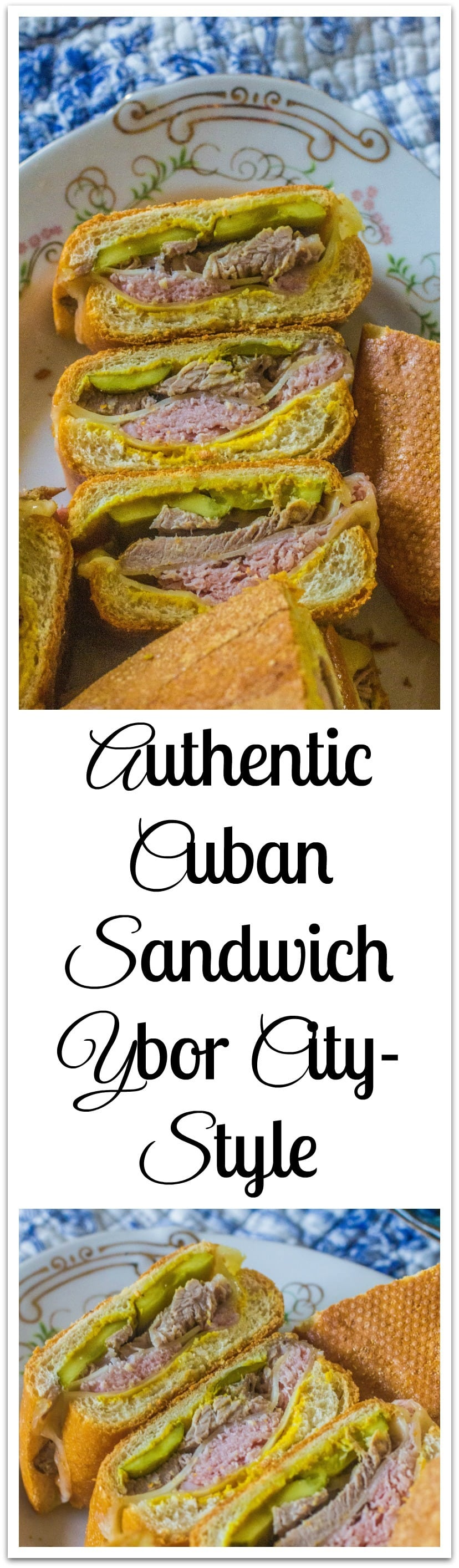 Cuban bread, mustard, dill pickles, ham, pork and Swiss cheese create this iconic sandwich. #CubanSandwich #DeliciousSandwich
