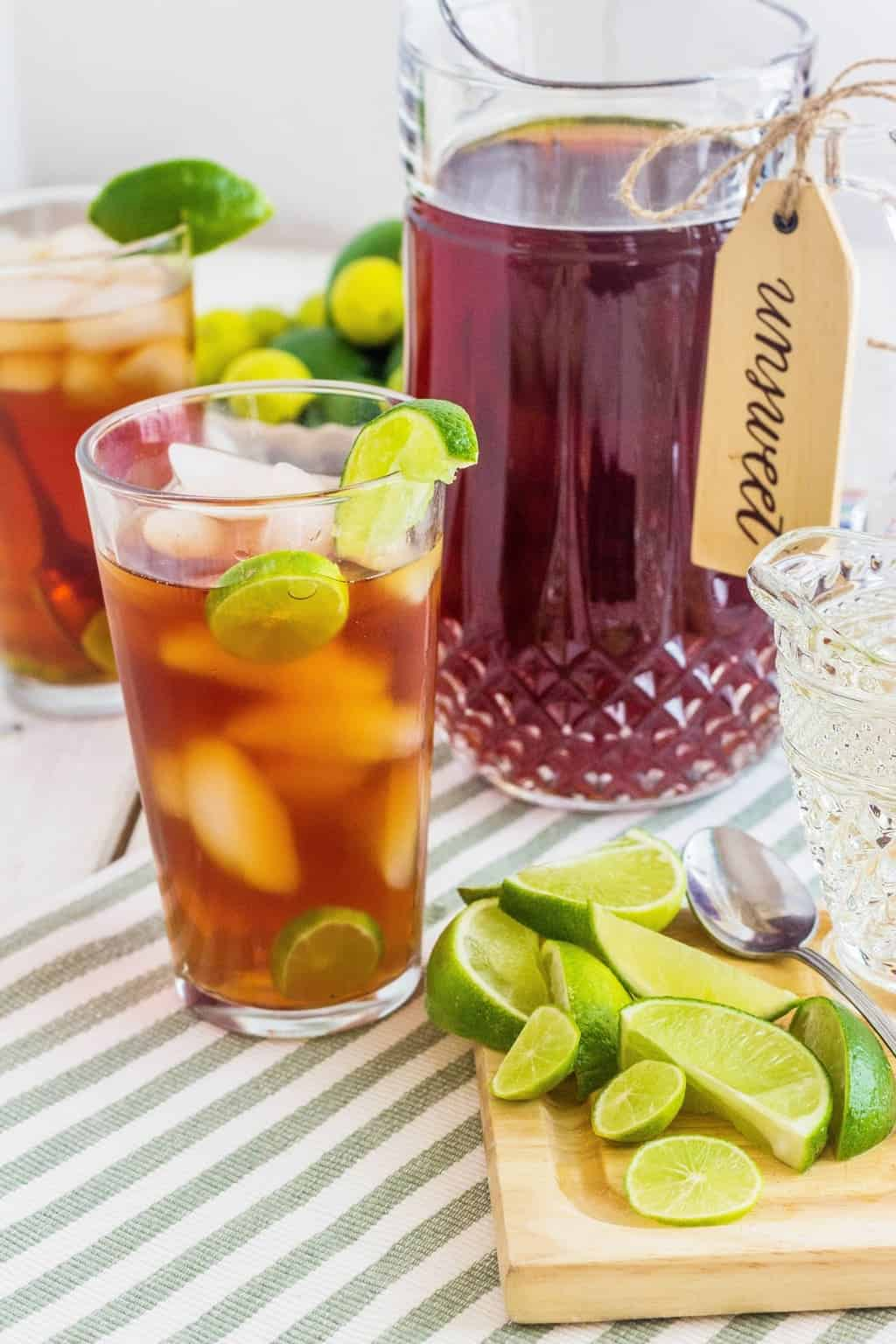 Barbados Tea with Lime and Simple Syrup