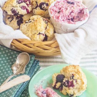 Blueberry Cream Biscuits with Blueberry Lime Butter