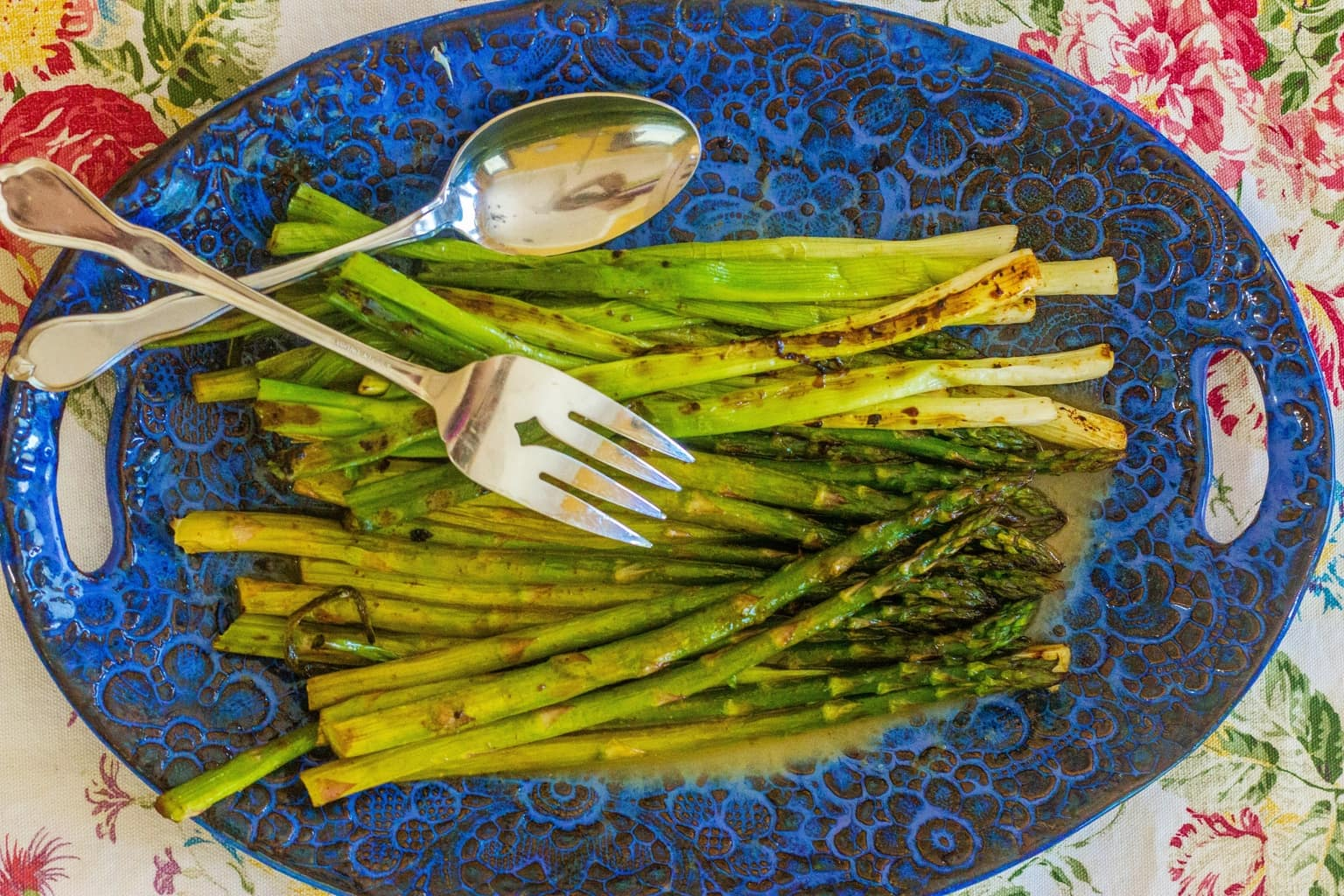 Grilled Asparagus and Spring Onions with Honey Lime Vinaigrette