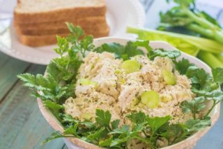 Old Fashioned Chicken Salad. Simple and comforting chicken salad made with minimal ingredients. Made completely from scratch the old fashioned way.