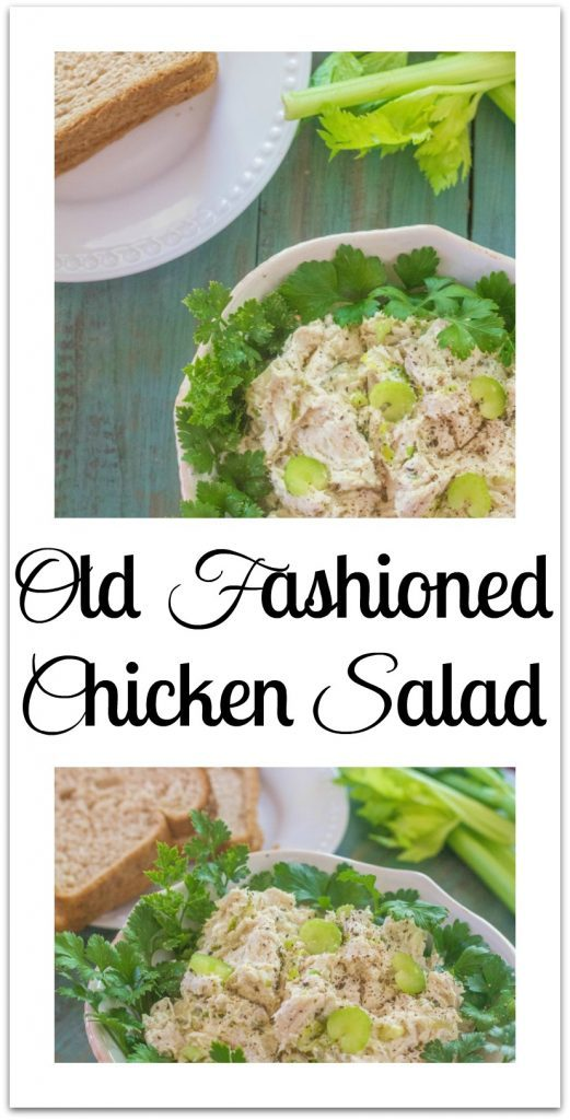 Old Fashioned Chicken Salad in bowl.