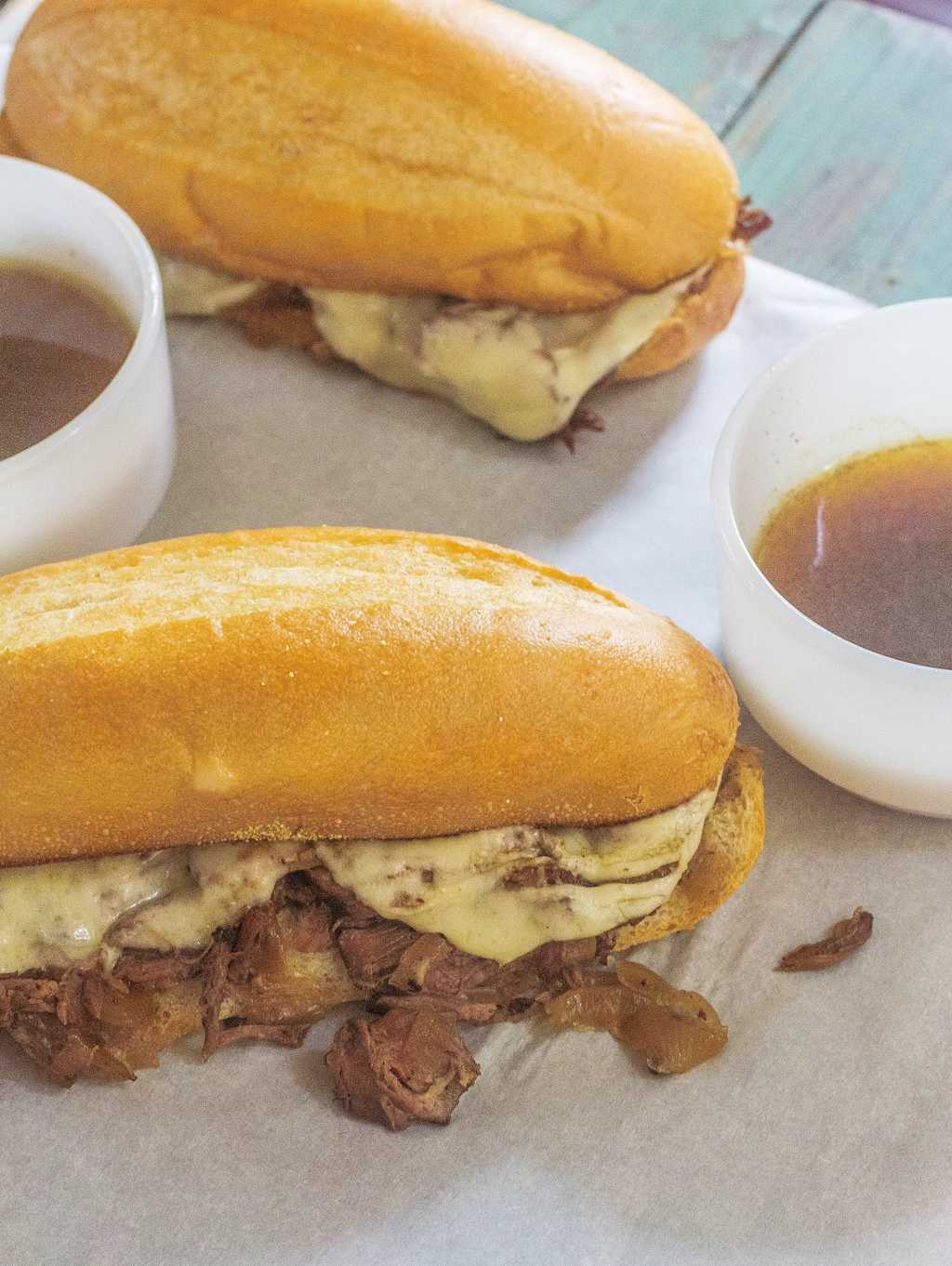 Slow-Cooker French Dip Sandwich