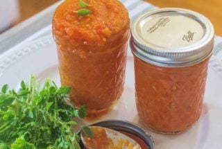 Homemade Basic Tomato Sauce. A great way to use up a bounty of tomatoes. Easy to make. Freezes well.