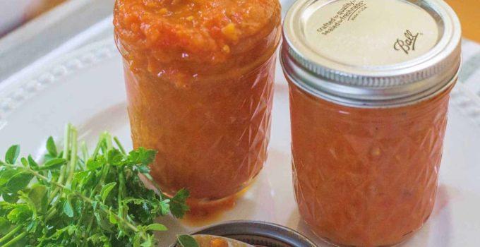 Homemade Basic Tomato Sauce