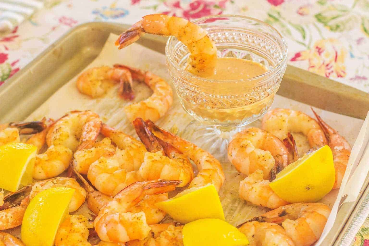 Oven Roasted Gulf Shrimp with Comeback Sauce