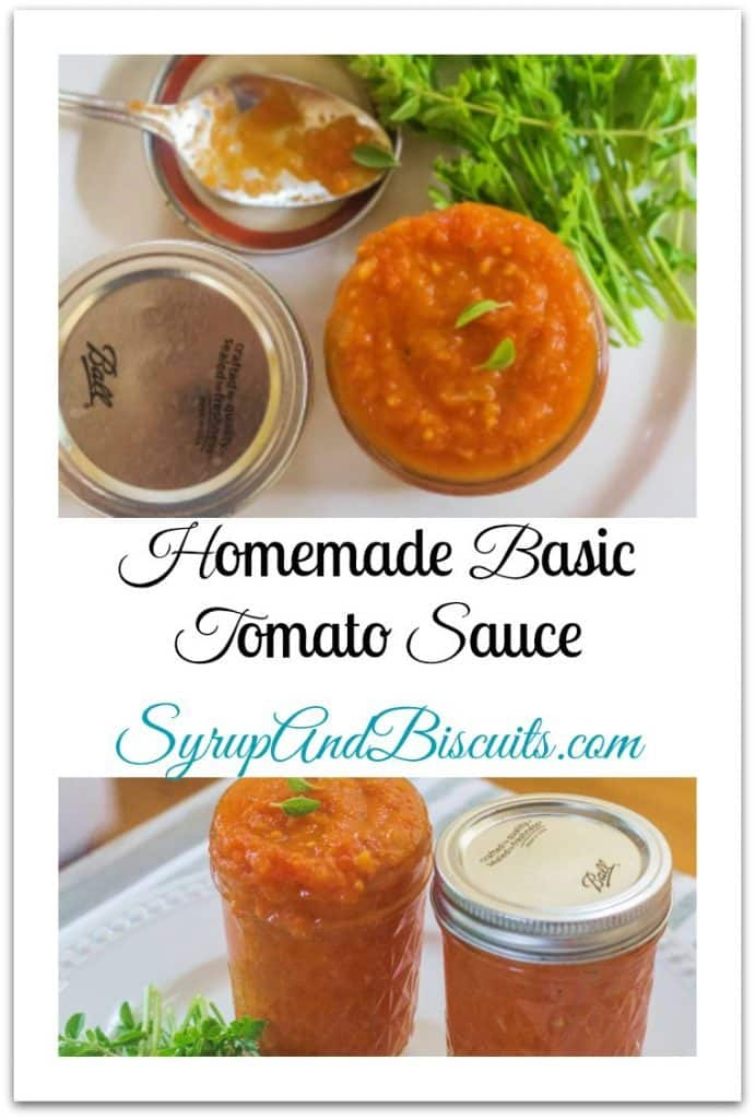 Homemade Basic Tomato Sauce | Syrup and Biscuits