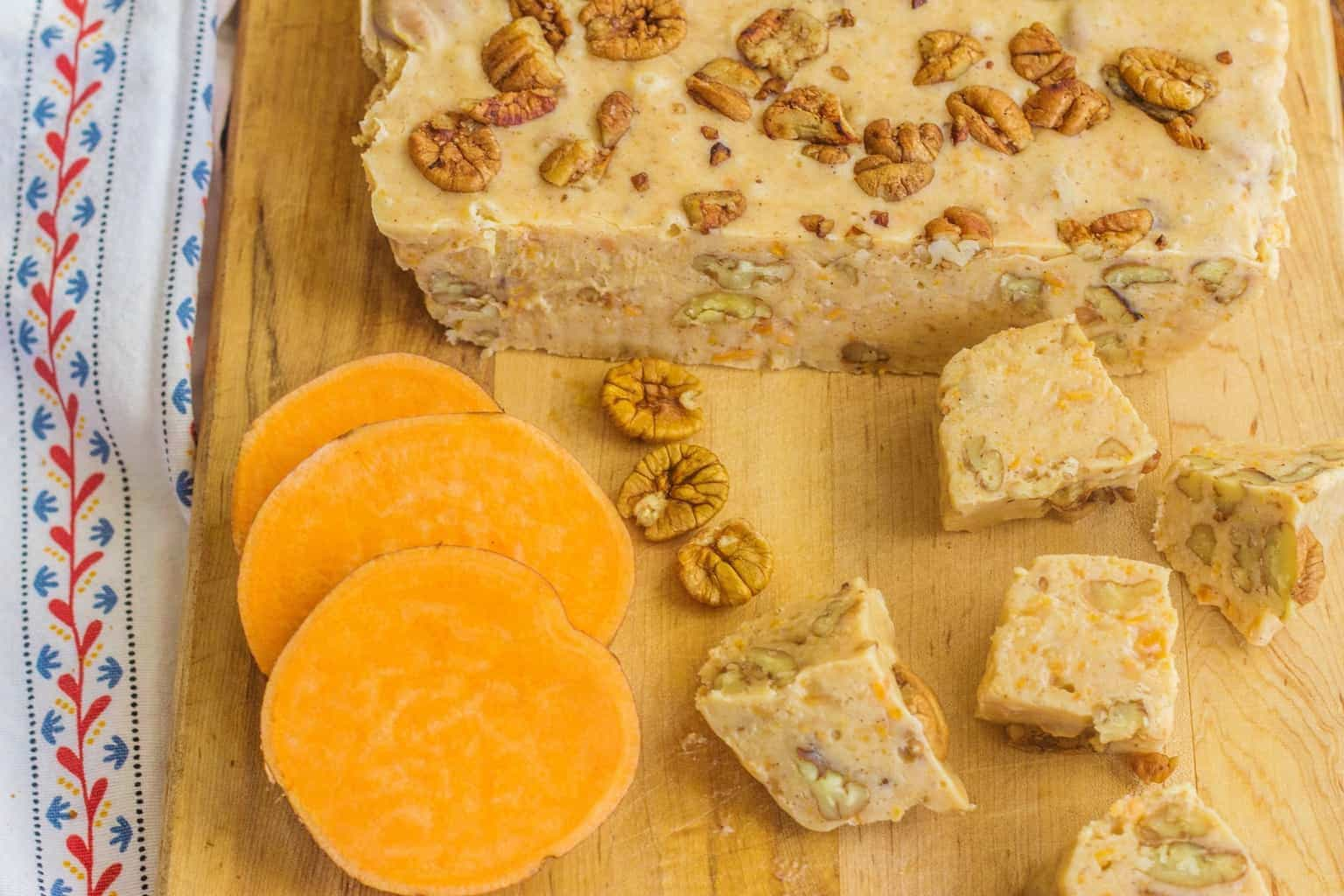 Sweet Potato Fudge with Buttered Salted Pecans