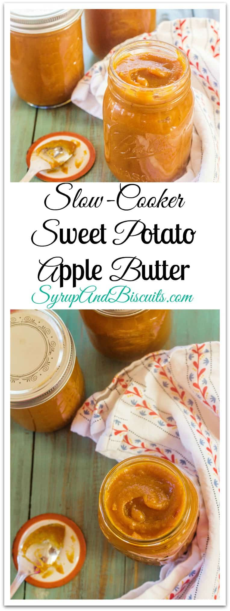 Slow-Cooker Sweet Potato Apple Butter relies on the same flavors as you find in pumpkin butter or pumpkin pie, for that matter. #SweetPotato #AppleButter #SouthernFave