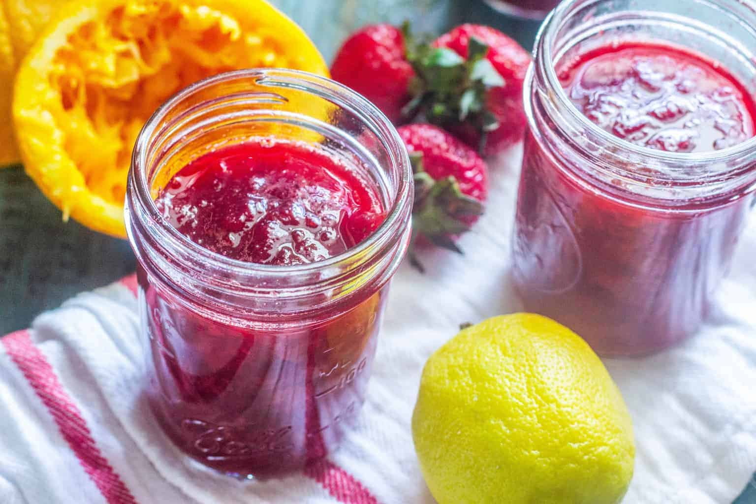 Strawberry Sangria Refrigerator Jam