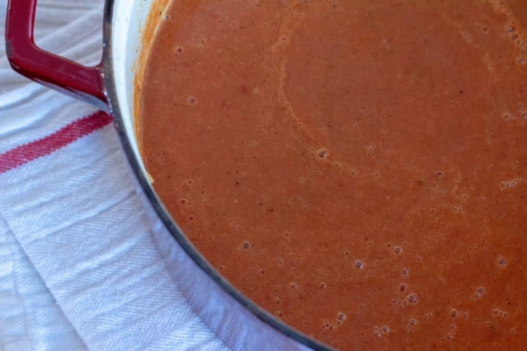 pot of tomato soup